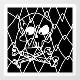 Fenced Off Skull Art Print