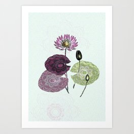Bowing to the divine in pink Art Print