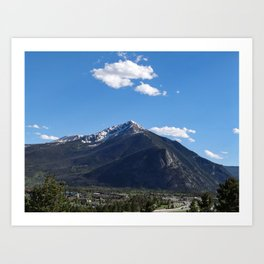 Up in the Rockies Art Print