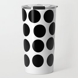 Black and White Polka Dots Travel Mug