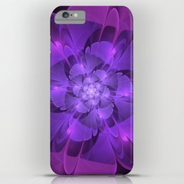 Purple Dew Drops | Abstract digital flower iPhone Case
