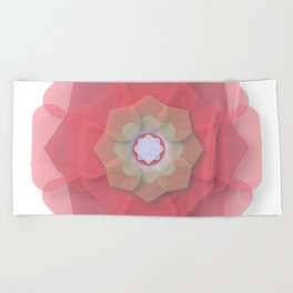 Pink Floral Meditation Beach Towel