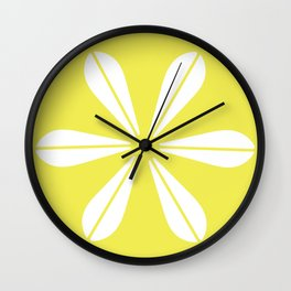LOTUS MINIMAL - Vanilla cream. Wall Clock