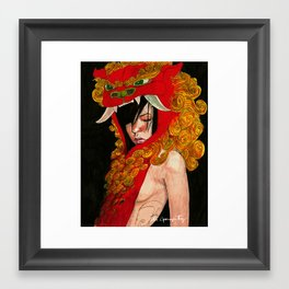 Foo Dog Slayer Kat Framed Art Print
