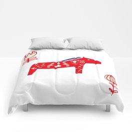 Dala horse white Comforters