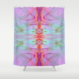 Large Wall Art- Pastilens- Sacred Geometry- Pink Art- Blue Art- Purple Art- Landscape- Home Decor Shower Curtain
