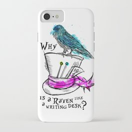Why is a raven like a writing desk? iPhone Case