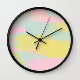 Abstract Pastel Watercolor Wall Clock