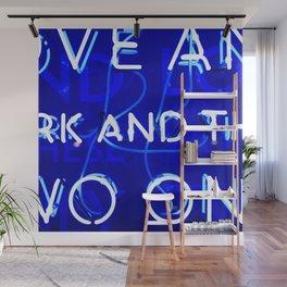 Blue Neon  Wall Mural