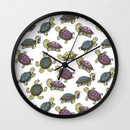 Turtles on the lake Wall Clock