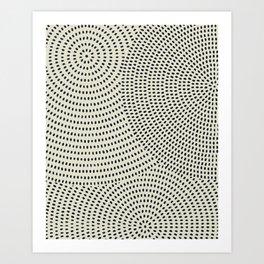 Circles of dots Art Print