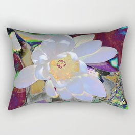WATER LILLY WHITE Rectangular Pillow