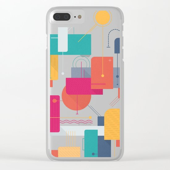 Thinking Of Summer Clear iPhone Case