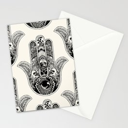 Hamsa Hand Frenchie Stationery Cards