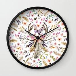 Boho nature circle Wall Clock