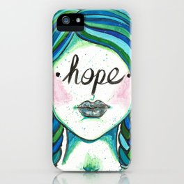"""Words Within: """"Hope"""" iPhone Case"""