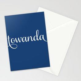 Towanda - french navy Stationery Cards