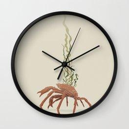 Seaweed Graphics Spider Crab Wall Clock