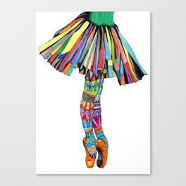 Happy Ballerina Canvas Print