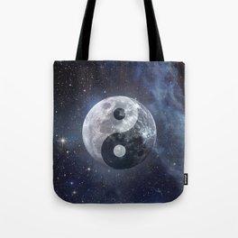 Yin Yang Moon Tote Bag