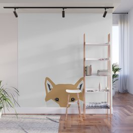 Shiba Inu peeking dog head pet art shibas unique pure breed gifts Wall Mural