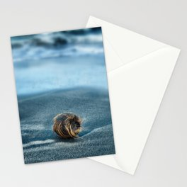 Lost on black sands Stationery Cards