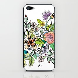 Floral White iPhone Skin