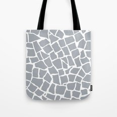 Mosaic Zoom Grey Tote Bag