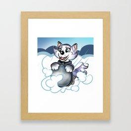 Sled Dog Everest Framed Art Print