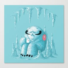 somewhere on the ice planet Canvas Print