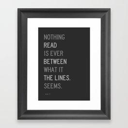 Lines / First Version / Mono Framed Art Print