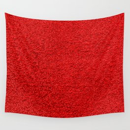 Rose Red Shag pile carpet pattern Wall Tapestry