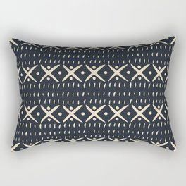 ADOBO MUDCLOTH DARK Rectangular Pillow