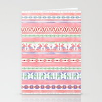 mexican Stationery Cards featuring Mexican Blanket by Sian Keegan