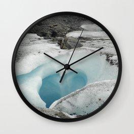 Glacier Heart Wall Clock