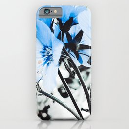 Icy Blue Flowers iPhone Case