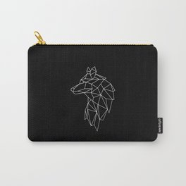 Wolf Geometric Abstract Polygonal Carry-All Pouch