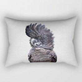 Black Cockatoo - Colorful Rectangular Pillow