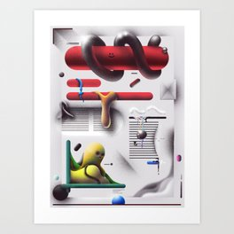 Weekend Abstract Magazine Art Print