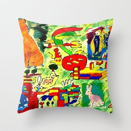 Stunned nature Throw Pillow