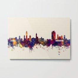 Lugano Switzerland Skyline Metal Print