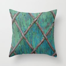 Rusty Fence Throw Pillow
