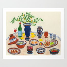 An Ode to Dinner's Out Art Print