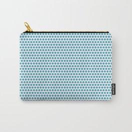 Modern blue white geometric polka dots pattern Carry-All Pouch