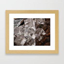 Giant Ice Blocks Framed Art Print