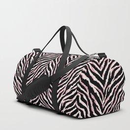 Zebra fur texture print Duffle Bag