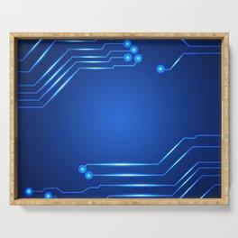 Hi tech circuit board. Serving Tray