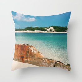 Island Landscape Throw Pillow