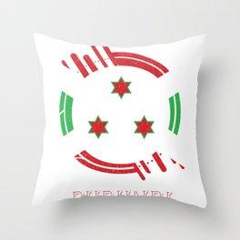 burundi Round Coat of Arms Throw Pillow