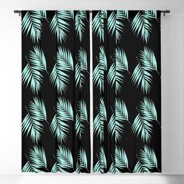 Palm Leaves Pattern #2 #Mint #Black #decor #art #society6 Blackout Curtain
